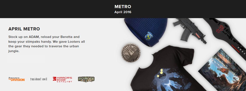 Loot Gaming - Metro (duben 2016)