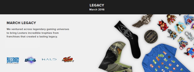 Loot Gaming - Legacy (březen 2016)